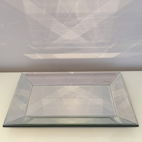 Mirror Rectangle Display Tray