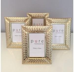 Weave Gold Frame