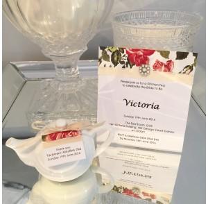 Kitchen tea teapot invitation
