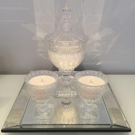 Decorative statement candle urn bonbonniere