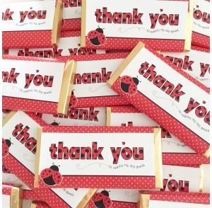 'Thank you' chocolate bar bonbonniere