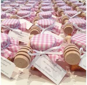 Honey mini square jar bonbonniere