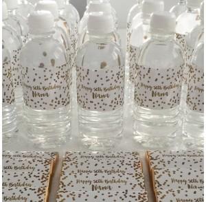 Mini water bottle bonbonniere