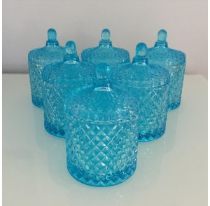Glass Candle - Blue