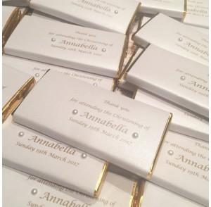 Gold edge chocolate bar bonbonniere