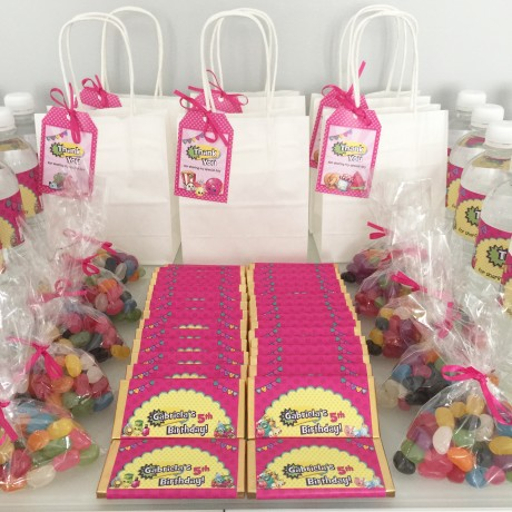 Shopkins birthday themed party bags