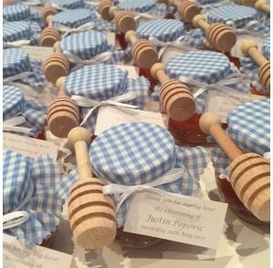 Round honey jar bonbonniere