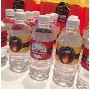 Themed mini water bottles