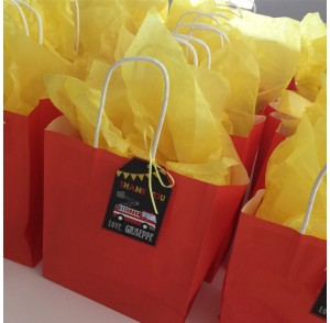 Birthday themed party bags