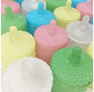 Glass candle bonbonniere (Pink, Baby blue, Green, Yellow, White)