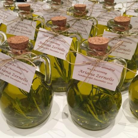 Olive oil bottle bonbonniere
