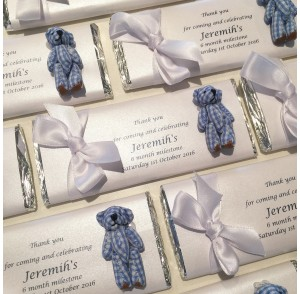 Large personalised chocolate bar bonbonniere